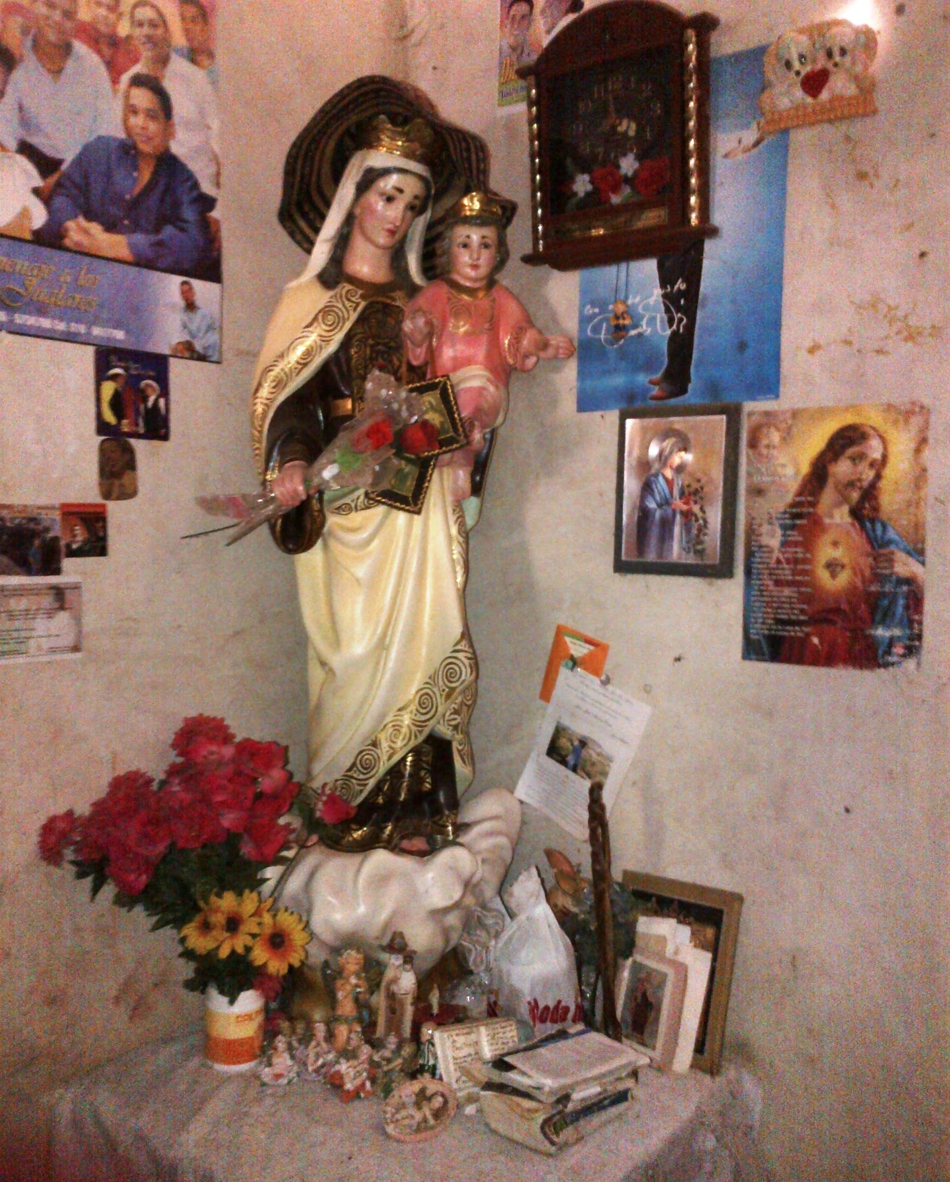 Imagen de la Virgen del Carmen que regaló Juancho Rois. Foto Juan Rincón Vanegas