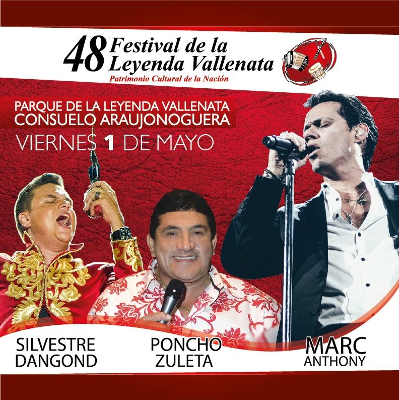 Programación musical 1 de mayo - festival vallenato 2015