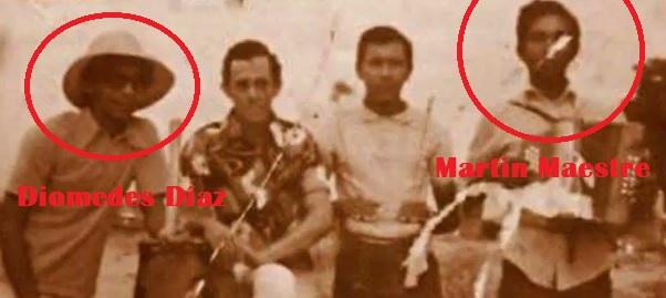 Versos de Diomedes Díaz y su tío Martin Maestre en vivo