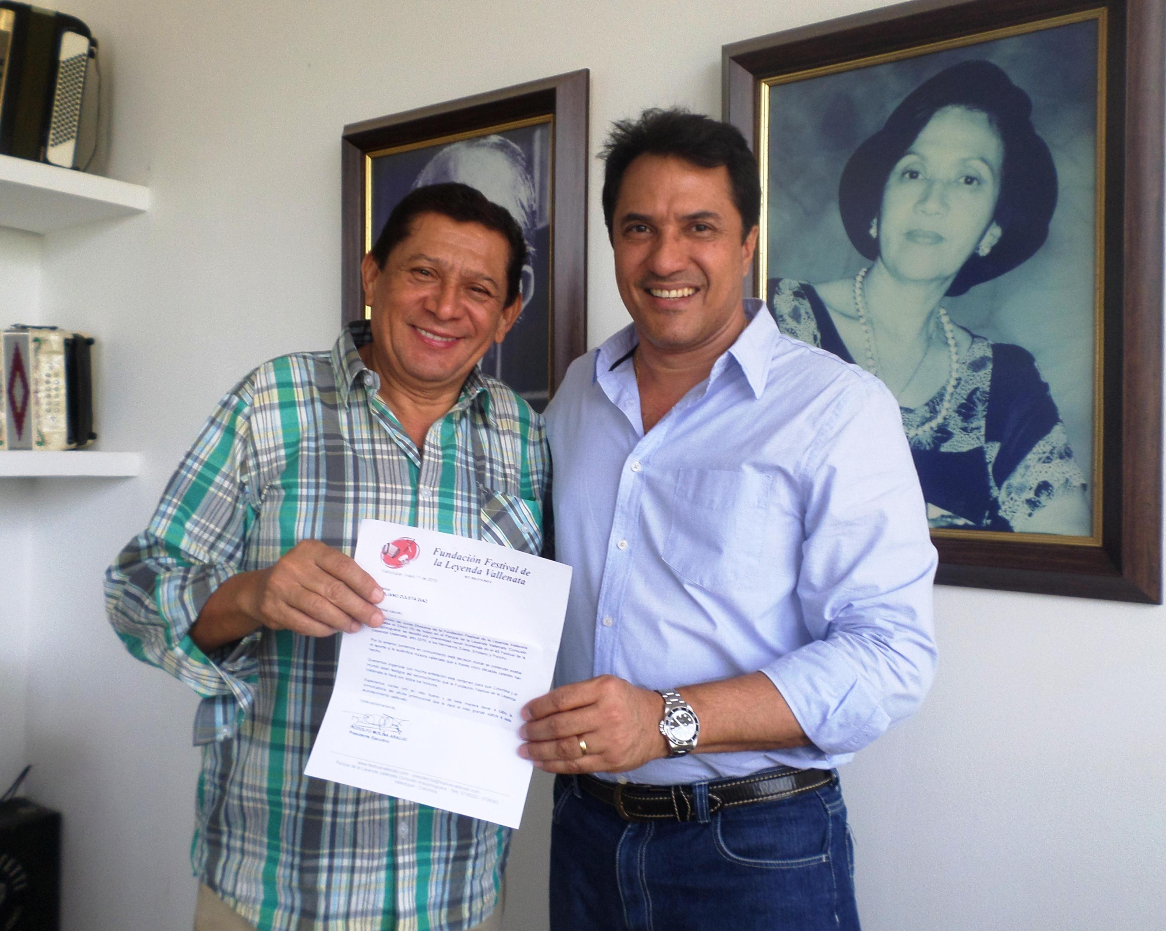 Emiliano Zuleta y Rodolfo Molina. Foto Cherlis Gamez Cuadros