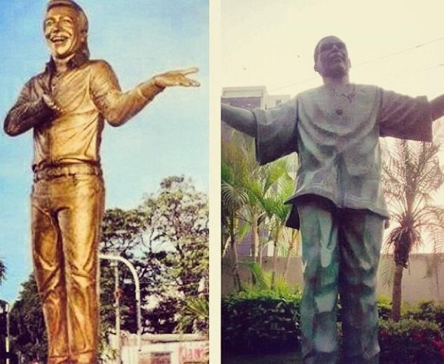 estatuas diomedes diaz y joe arroyo