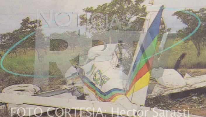 foto avioneta que se accidentó con juancho rois
