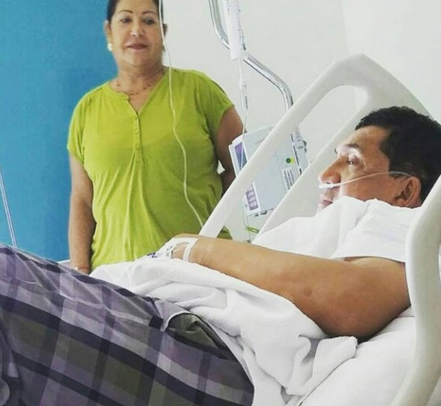 poncho zuleta recuperándose de la operación de sinusitis