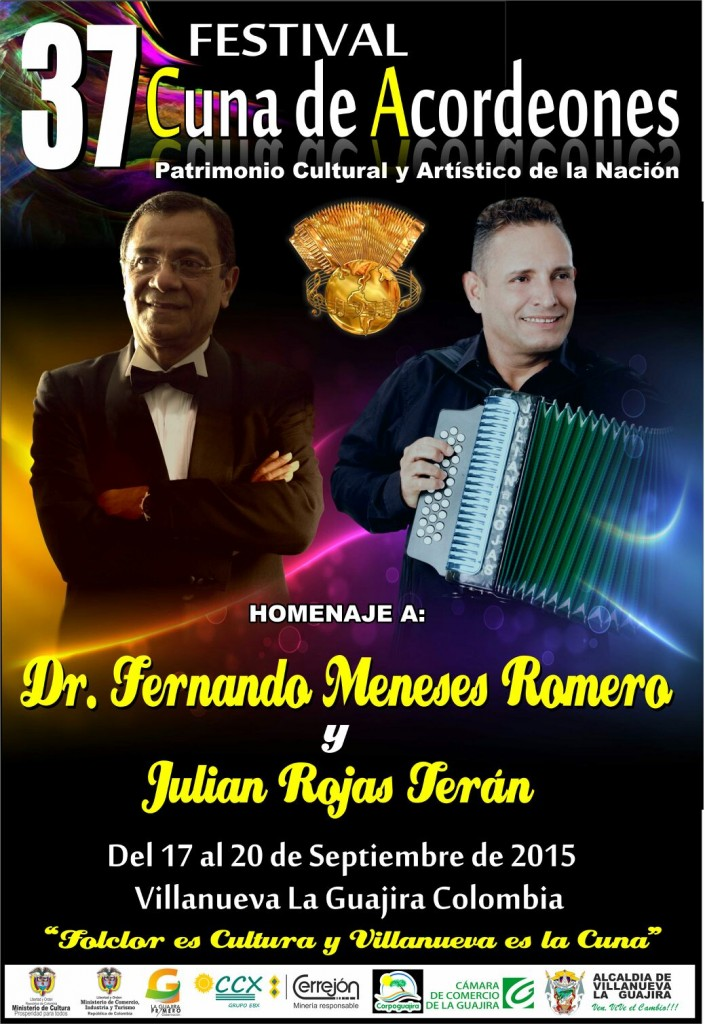 afiche festival cuna de acordeones 2015