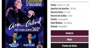ana gabriel en concierto en medellín 2015
