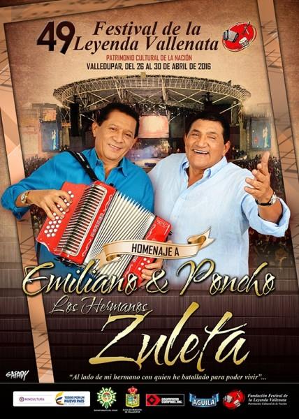 Afiche 49 Festival de la Leyenda Vallenata - Festival Vallenato 2016
