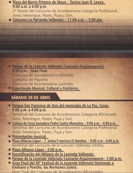 programación festival vallenato 2016 - 6