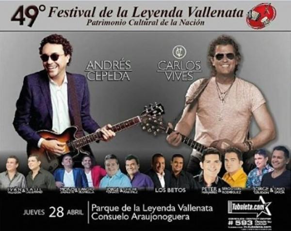 festival vallenato artistas 2016 - jueves 28 de abril