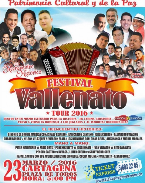festival vallenato tour - cartagena