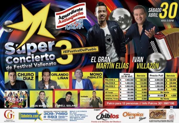 30 de abril 2016 - super concierto festival vallenato