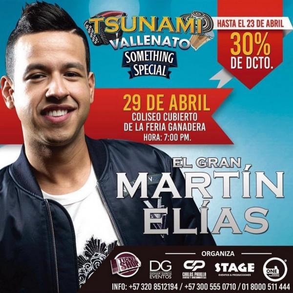 martin elias tsunami vallenato valledupar 2016