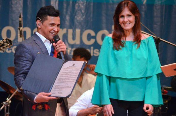 Jorge Celedón y Rosa Cotes Gobernadora